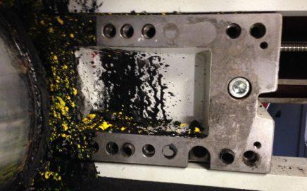 Lo que queremos evitar: La suciedad de la tinta en la imprenta